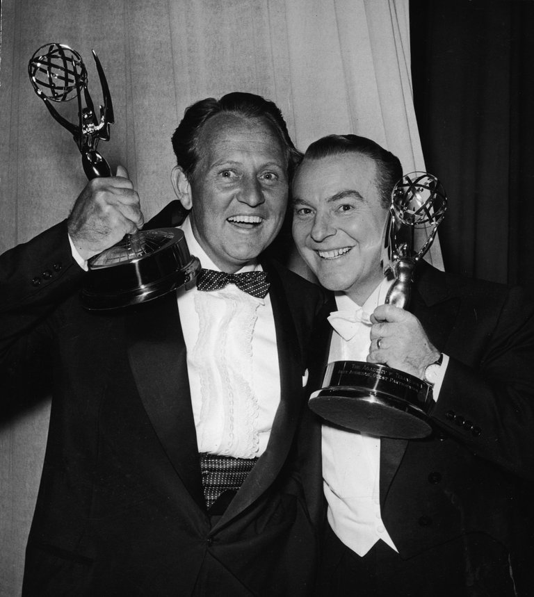 Art Linkletter & Ralph Edwards With Emmys