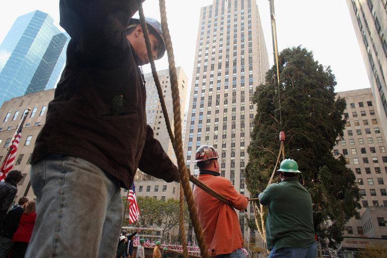 Rockefeller Center Christmas Tree Arrives In Plaza