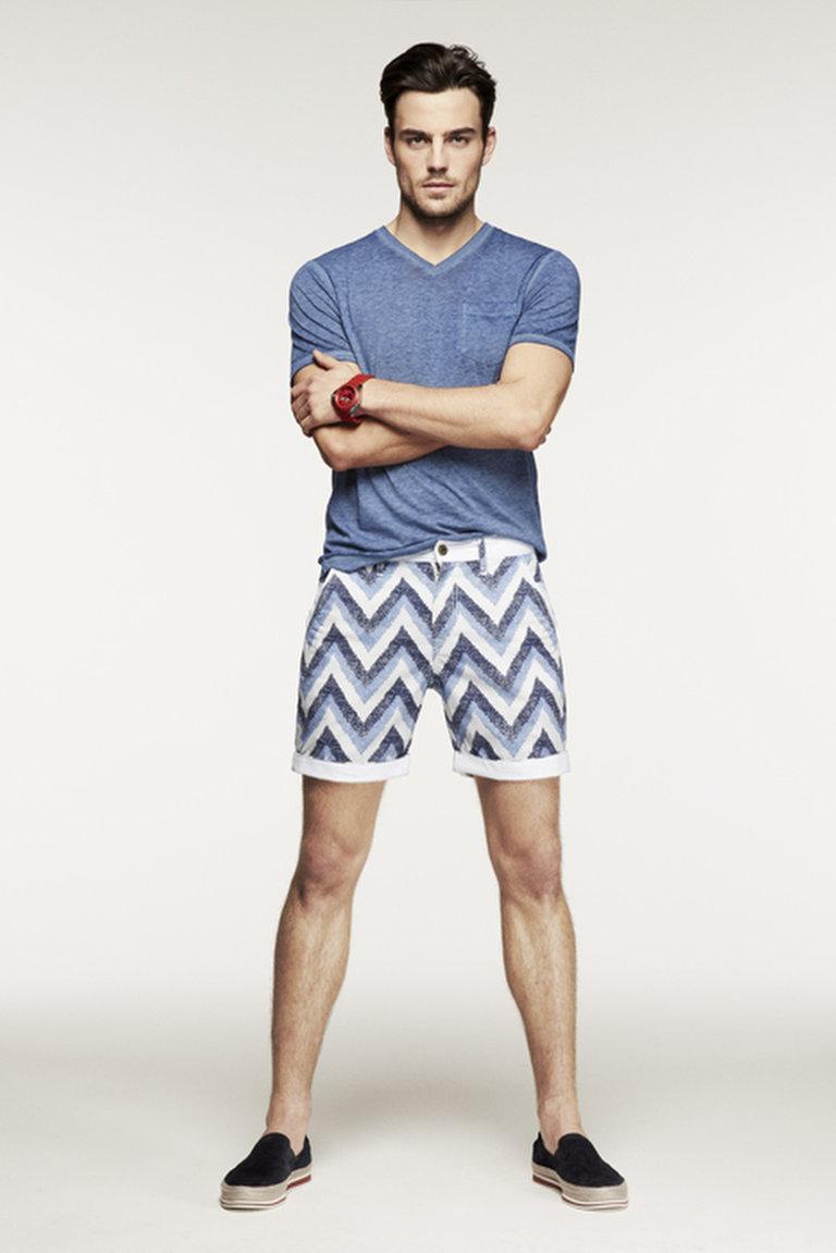 Brandon's Aztec-Printed Shorts