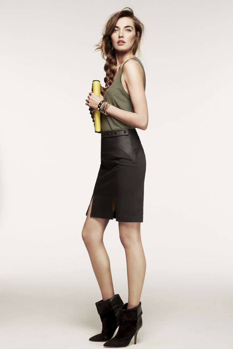 Hunter's Snap Pencil Skirt