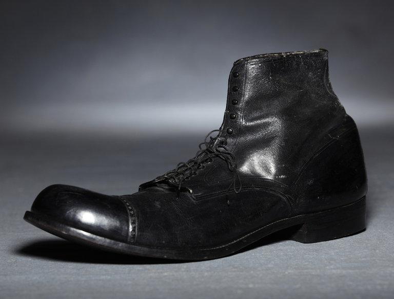 Robert Wadlow's Size 37 Left Shoe