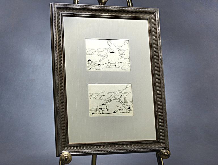 1914 Gertie the Dinosaur Animation Drawings
