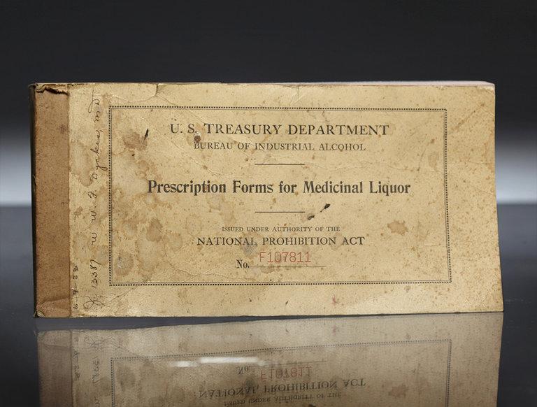 Medical Liquor Prescription Pad (circa 1933)