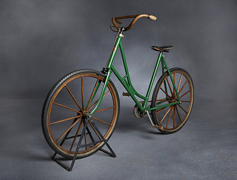 Antique Racycle Wooden Bicycle (circa 1890s)