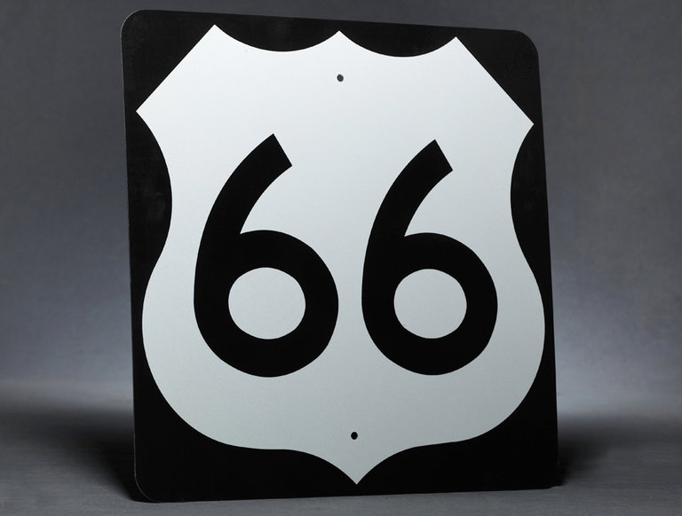 Route 66 Highway Sign (circa 1960s)
