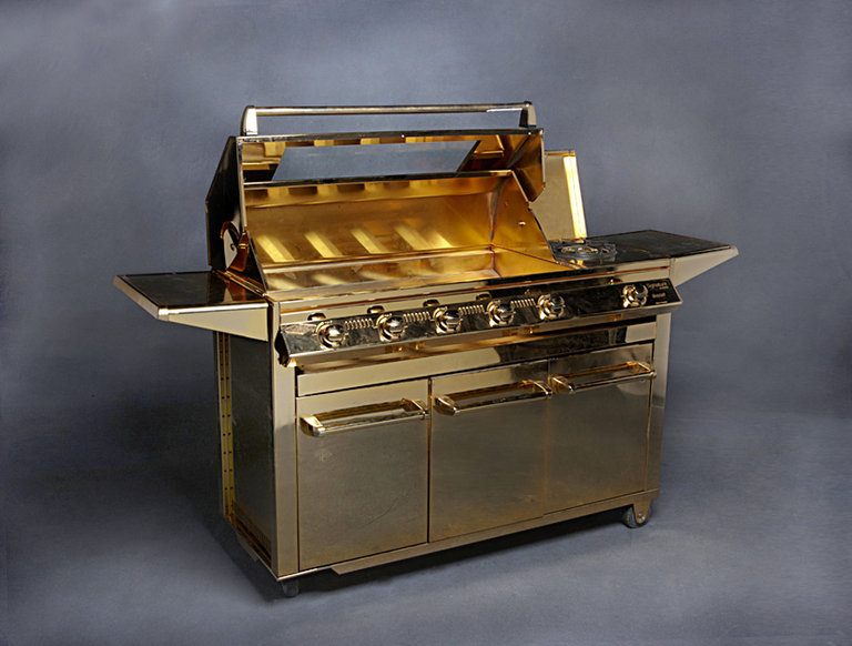 Gold-Plated BeefEater Grill