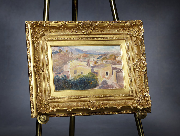 "Renoir's ""Paysage vers Cagnes-sur-Mer"" (circa 1899)"