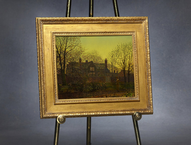 "Grimshaw Painting, ""All in the Golden Twilight"""