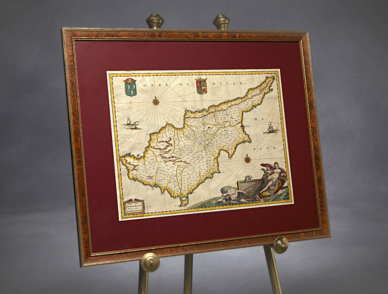 Blaeu (Johan and Willem) Map of Cyprus