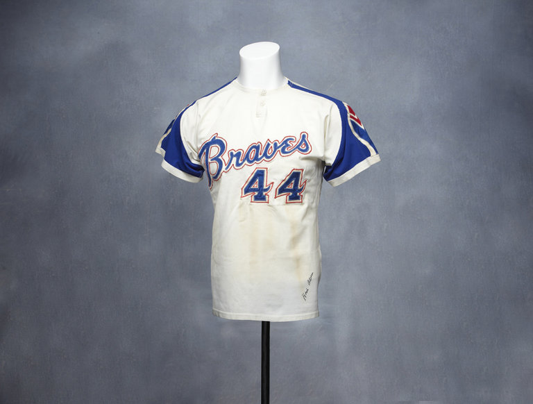 Hank Aaron's Signed Atlanta Braves Jersey