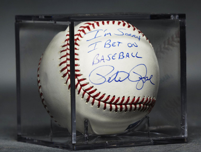 Baseball, Autographed by Pete Rose