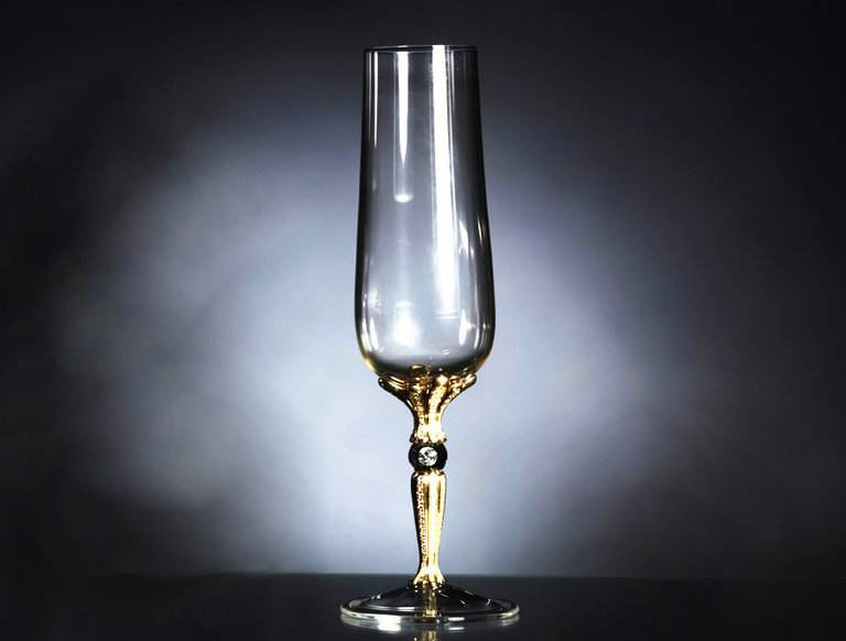 Imperial Champagne Glass with Diamonds