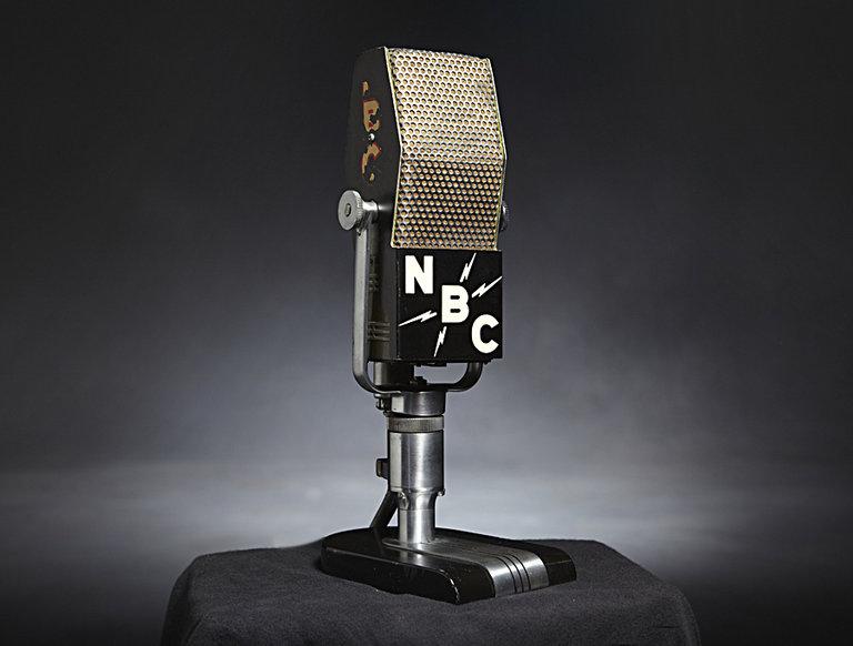 Antique NBC Flag Microphone