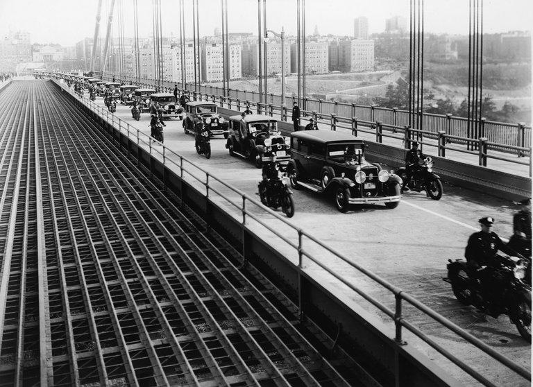 Cars Cross George Washington Bridge On Opening Day