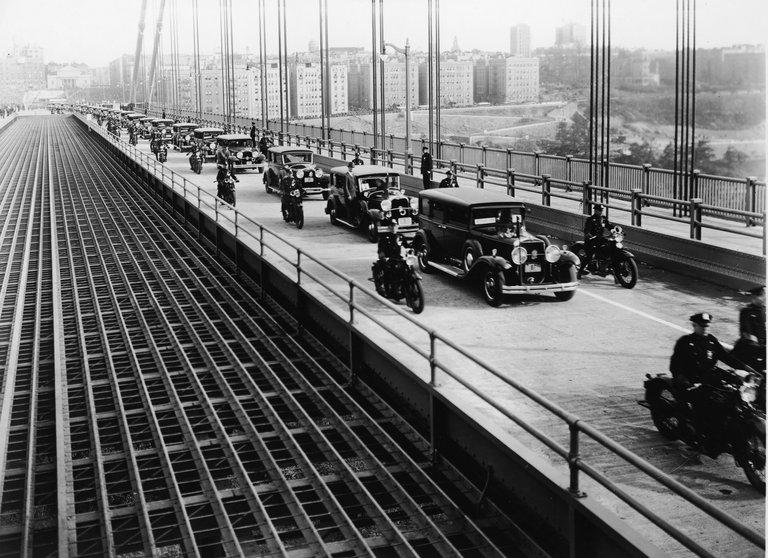 Cars Cross George Washington Bridge On Opening Day