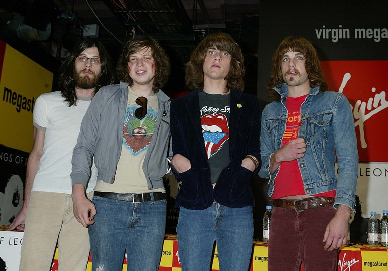 Kings of Leon signing at Virgin Megastore London