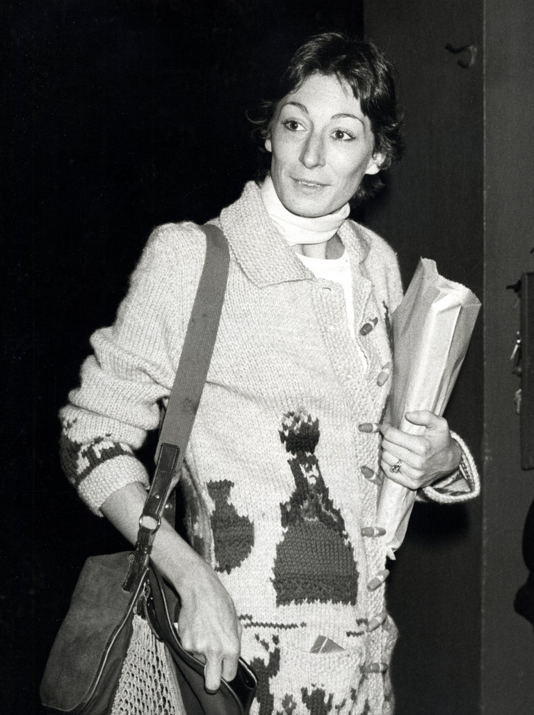 Anjelica Huston Sighting at the Beverly Hills Hotel - April 15, 1978