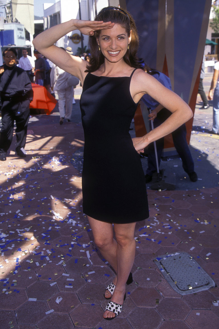Debra Messing attending the premiere of McHale's Navy at Universal City Theme Park in 1997