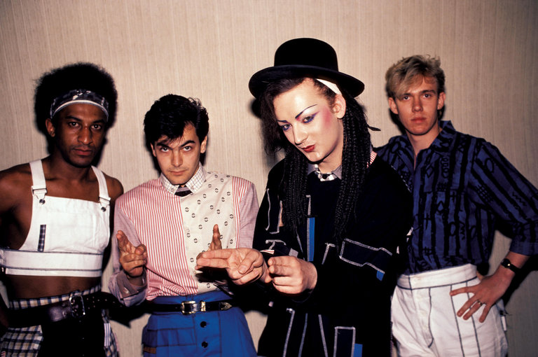 Photo of CULTURE CLUB and Mikey CRAIG and Jon MOSS and BOY GEORGE and Roy HAY