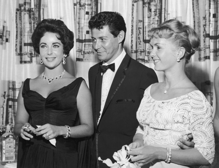 With Eddie Fisher
