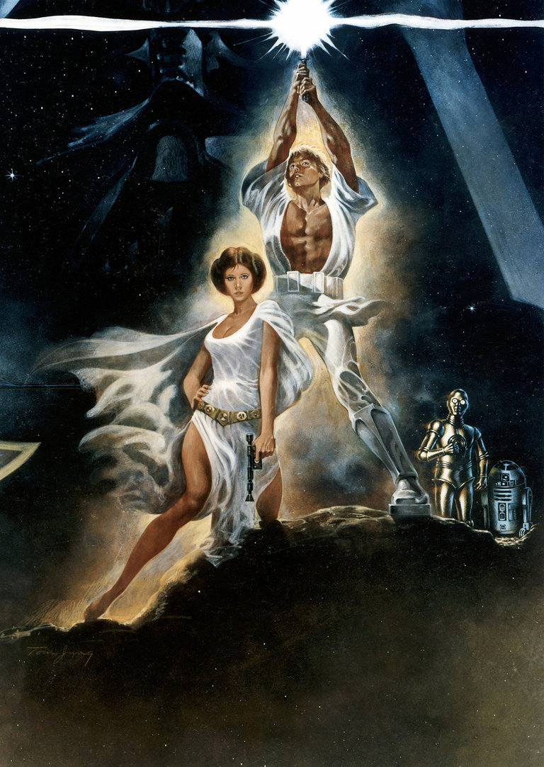 Poster for Star Wars, 1977, 20th Century Fox film. (detail).