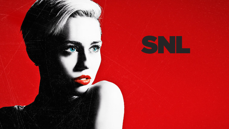 Miley Cyrus hosts and performs on Saturday Night Live.