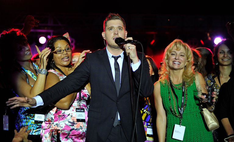 Michael Buble Performance At Beringer Vineyards