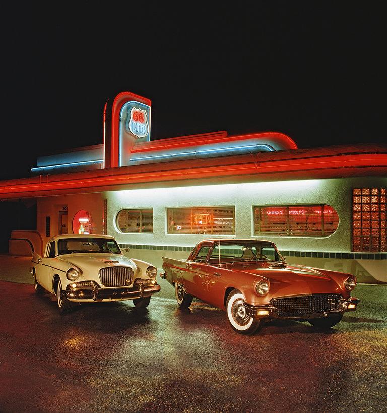 1960 Studebaker Hawk and 1957 Ford Thunderbird