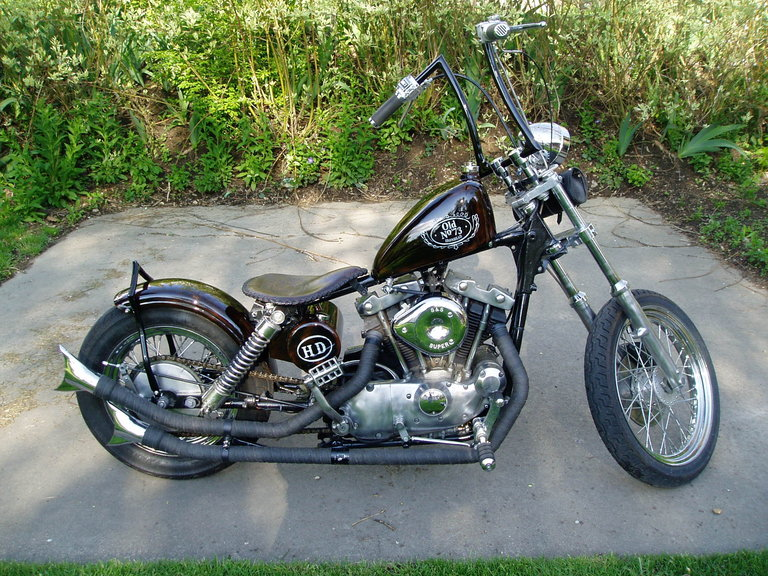 1973 - Harley Davidson, stroked 1300cc XLCH ironhead sportster
