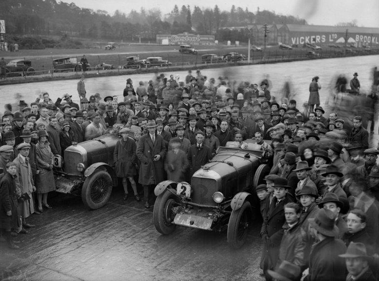 1930 Speed Six Bentleys, Brooklands 1930