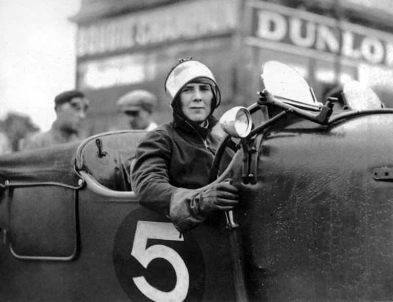 Mildred Bruce and her 4.5-Litre Bentley Blower