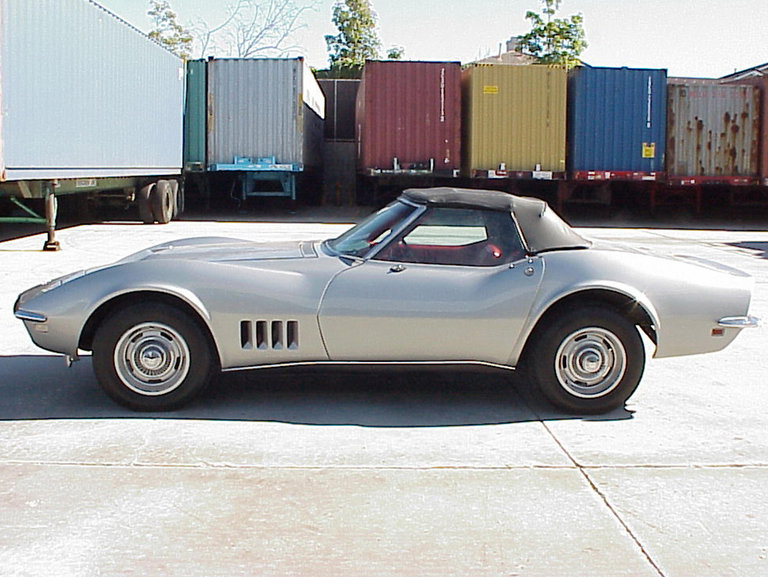 A 1968 Corvette Stingray is pictured dur