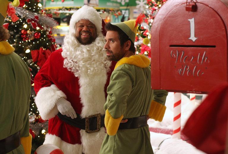 Big Mike Santa and Morgan the Elf