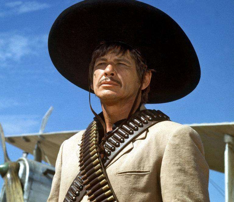 "Portrait of the actor Charles Bronson in ""Villa Cabalga""."