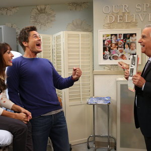 Parks and Recreation - Ann Perkins and Chris Traeger share a laugh with Dr. Saperstein in his office