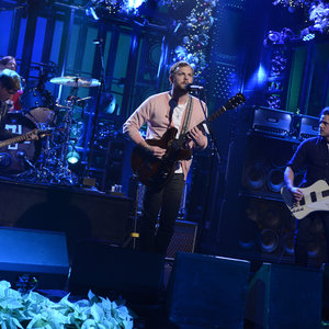 """Musical guest Kings of Leon performs """"Wait For Me"""" in episode 1650 of Saturday Night Live on December 14, 2013."""