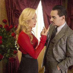 "Dracula - Lady Jayne Wetherby lovingly fingers Alexander Grayson in ""Servant To Two Masters"""