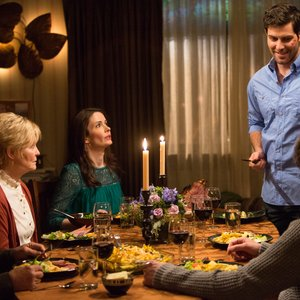 Grimm - Nick smiles over a polite dinner with Monroe and his parents