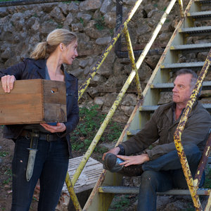 Revolution - Elizabeth Mitchel as Rachel Matheson and Stephen Collins as Dr. Gene Porter
