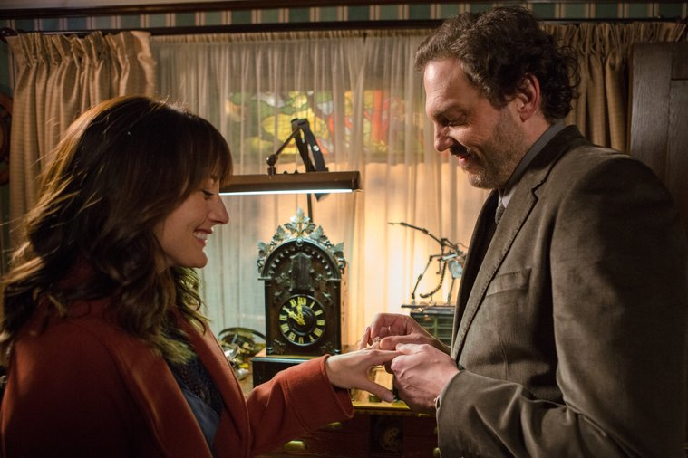 Grimm - Monroe places engagement ring on Rosalee Calvert's hand