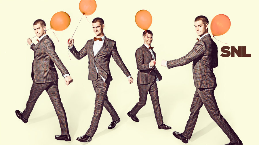 Andrew Garfield hosts Saturday Night Live with musical guest Coldplay on May 3, 2014!