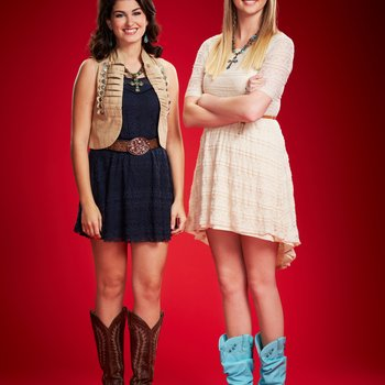 "THE VOICE -- Season: 6 -- Pictured: (l-r) Alaska Holloway, Madison Metcalf as ""Alaska & Madi"" -- (Photo by: Paul Drinkwater/NBC)"