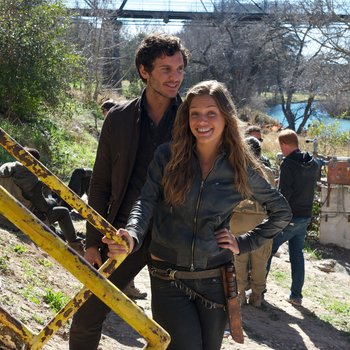 Pictured: (l-r) Mat Vairo as Connor, Tracy Spiridakos as Charlie Matheson -- (Photo by: Felicia Graham/NBC/NBCU Photo Bank)