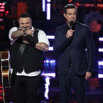 "THE VOICE -- ""Playoffs"" Episode 614 -- Pictured: (l-r) Ryan White Maloney, Carson Daly -- (Photo by: Tyler Golden/NBC)"