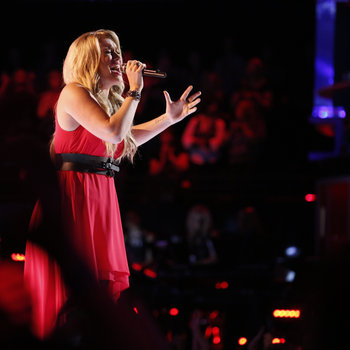 "THE VOICE -- ""Live Show"" -- Pictured: Dani Moz  -- (Photo by: Trae Patton/NBC)"