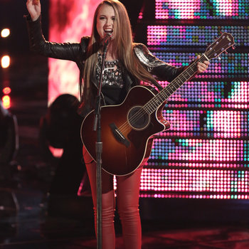 """THE VOICE -- """"Live Show"""" -- Pictured: Bria Kelly -- (Photo by: Tyler Golden/NBC)"""