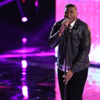 """THE VOICE -- """"Live Show"""" -- Pictured: T.J. Wilkins -- (Photo by: Tyler Golden/NBC)"""