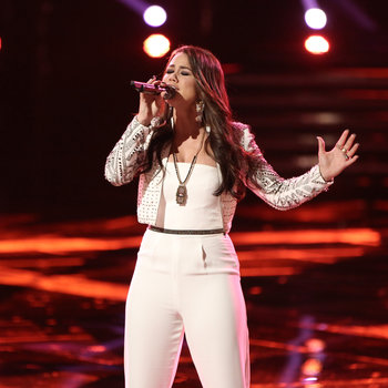 """THE VOICE -- """"Live Show"""" -- Pictured: Tess Boyer -- (Photo by: Tyler Golden/NBC)"""