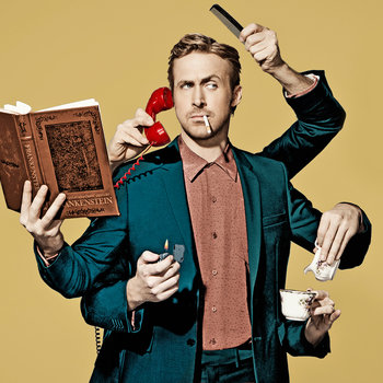 Ryan Gosling hosts Saturday Night Live with musical guest Leon Bridges on December 5, 2015.