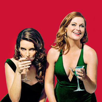 Tina Fey and Amy Poehler host Saturday Night Live with musical guest Bruce Springsteen on December 19, 2015.